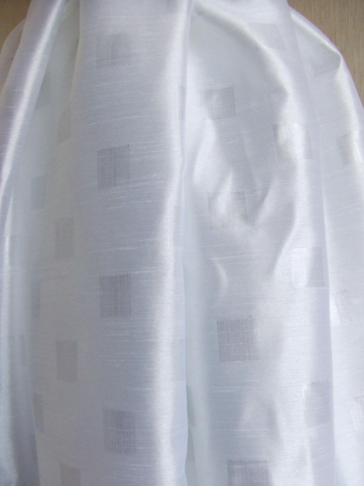白シャンタン ブロックラメ